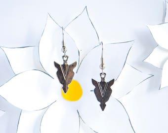 Simple Dangle Earrings | Silver Arrowhead Charm Earrings | Handmade Earrings | Arrowhead Jewelry | Boho Jewelry | Gifts for Women