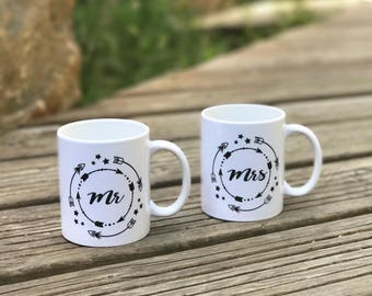 Mr Mrs - Mug MR - Mug mug - MRS couple - Mug wedding - bachelorette party Mug - gift - mrs gift - gift mr mrs mr-
