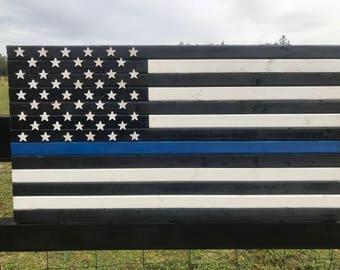 19x36 Thin blue line • police flag