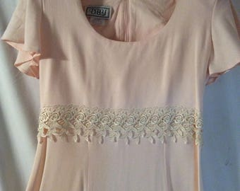 D.B.Y.ltd Pale Peach A-Line Dress