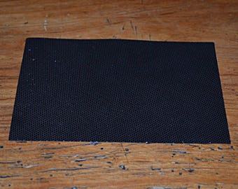 Coupon of leather genuine black Lamb (8802725)