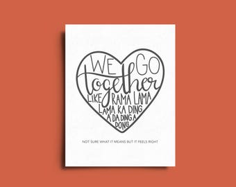 We Go Together - Grease - Funny