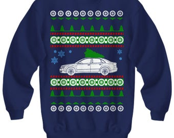 Audi B6 A4 Ugly Christmas Sweater Holiday boost racecar boosted fast cars enthusiast  trackday race drifting