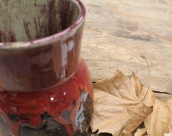 Red Rimmed Vase