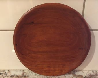 Hand-Turned Spalted Cherry Plate