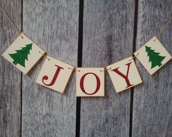 christmas banner, joy banner, christmas decorations, christmas glitter banner, holiday decorations, christmas joy sign, holiday sign