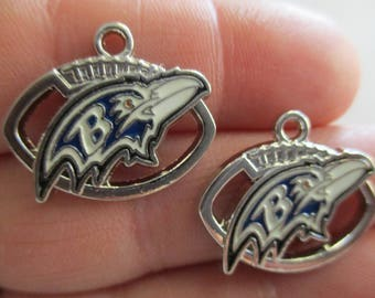 Set of 2 Charms inspired by Baltimore Ravens