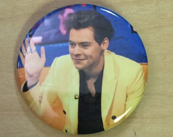 Harry Styles Pinback Button 2.25 inch-Two Ghosts-NEW