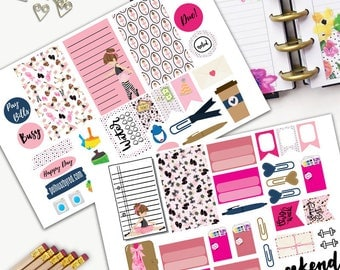 Ballerina Theme Planner Weekly Sticker SMALL Kit, CLASSIC Happy Planner Sticker, Weekly Set, Stickers, Printed, Cut, Dance Practice, Ballet