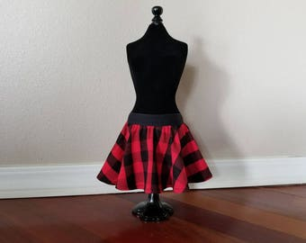 Red Buffalo Plaid Baby Skirt