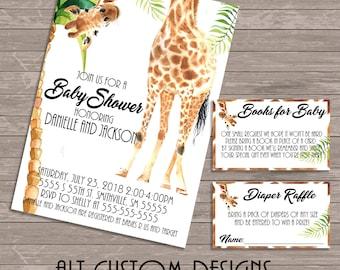 Safari baby shower invitation - jungle baby shower invitation - safari baby shower - jungle baby shower