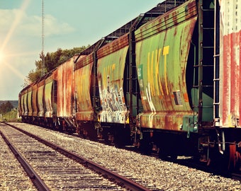Railroad Photography | Photo Effects | Instant Download