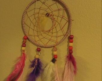 Pink and purple dreamcatcher
