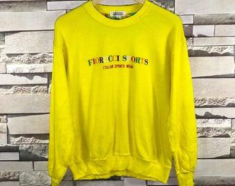 Rare Vintage Fiorucci sports sweatshirts Made In Japan / fiorucci sweatshirt / fiorucci hoodie / Fiorucci jacket / Fiorucci big logo /