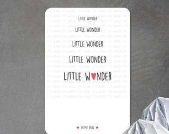 """Little Wonder"" card in my view"