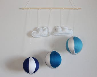 Mobile wall influence Gobbi cloud white and blue