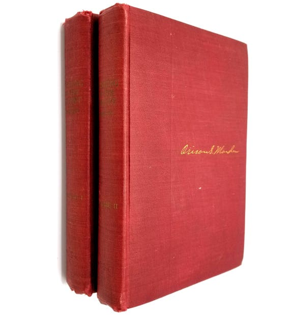 Pushing to the Front Volumes I & II by Orison Swett Marden 1911 The Success Company - Hardcover HC - Self Improvement