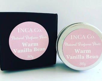 Warm Vanilla Bean, Perfume Paste