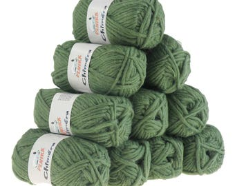 10 x 50 g wool CHIMERA #428 pale green, wool for knitting felting