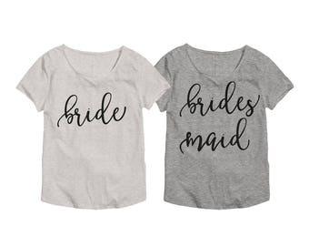 Bridal Party Shirt Set - Team Bride Shirts - Bridal Party Shirts - Bridal Shirts - Bachelorette Party Shirts - Bridesmaid Shirts 013