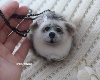 Needle felted Hedgehog, felt Hedgehog pendant, toy Hedgehog, Needle felted animals, felt toy, Animals sculpture, felting, Handmade toy, gift