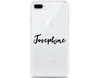 Custom CLEAR Phone Case iPhone X Name iPhone 8 Plus Case iPhone 7 Plus Case iPhone 6s Plus iPhone 6 Plus iPhone SE Samsung Galaxy S8 S7 edge