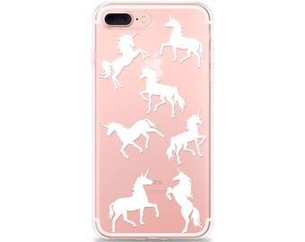 iPhone 8 Case UNICORN iPhone X Case, iPhone 8 Plus Case, iPhone 7 Plus iPhone 6s Plus iPhone 6 Plus iPhone SE Galaxy S8 Galaxy S7 edge Clear