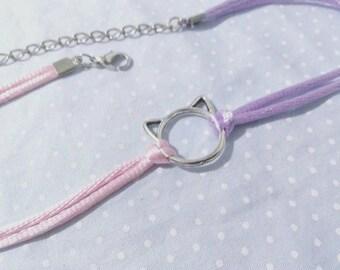 Kitty Satin String Choker (Fairy Kei, Lolita, Spank!, Decora)