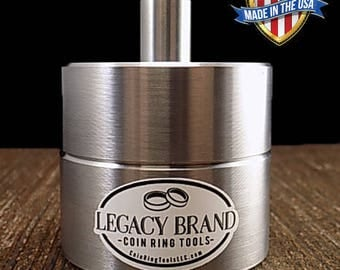 """Coin Ring Punch and Spacer Set Center Punch 1/2"""" holes in hundreds of different coins Legacy Brand"""