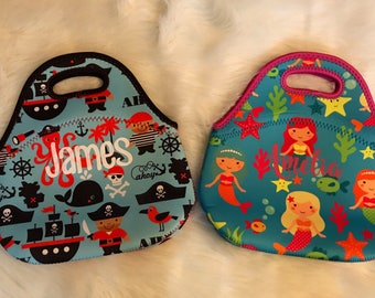 Kids Personalized  Insulated Lunch Bags!