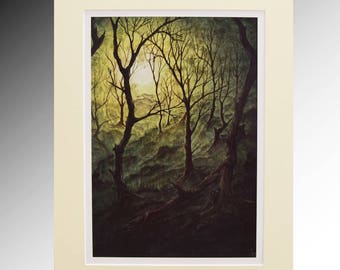 The Coppice Fine Art Giclee Print A4 Mounted Limited Edition Print of 250
