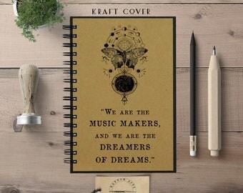 Writing Journal, Dream Journal, Gift for Her, Writer Journal, Gift for Women, Hardcover Notebook, Spiral Notebook, Bullet Journal