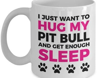 Pit Bull Mug - Pit Bull Gift - 11oz Coffee Cup - Dog Lover Gifts and Accessories