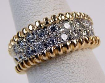 14k gold 1 Ctw diamond ring #10513