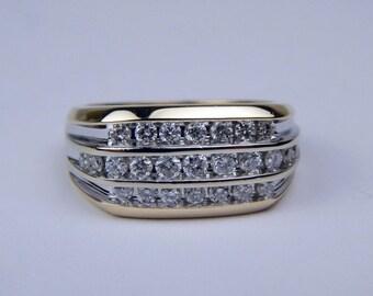 14k gold 1 Ctw diamond ring #10516