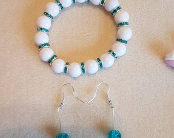 Turquoise and white collection