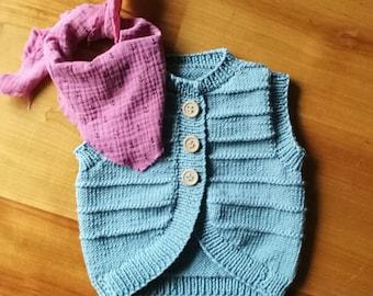 Baby vest, vest
