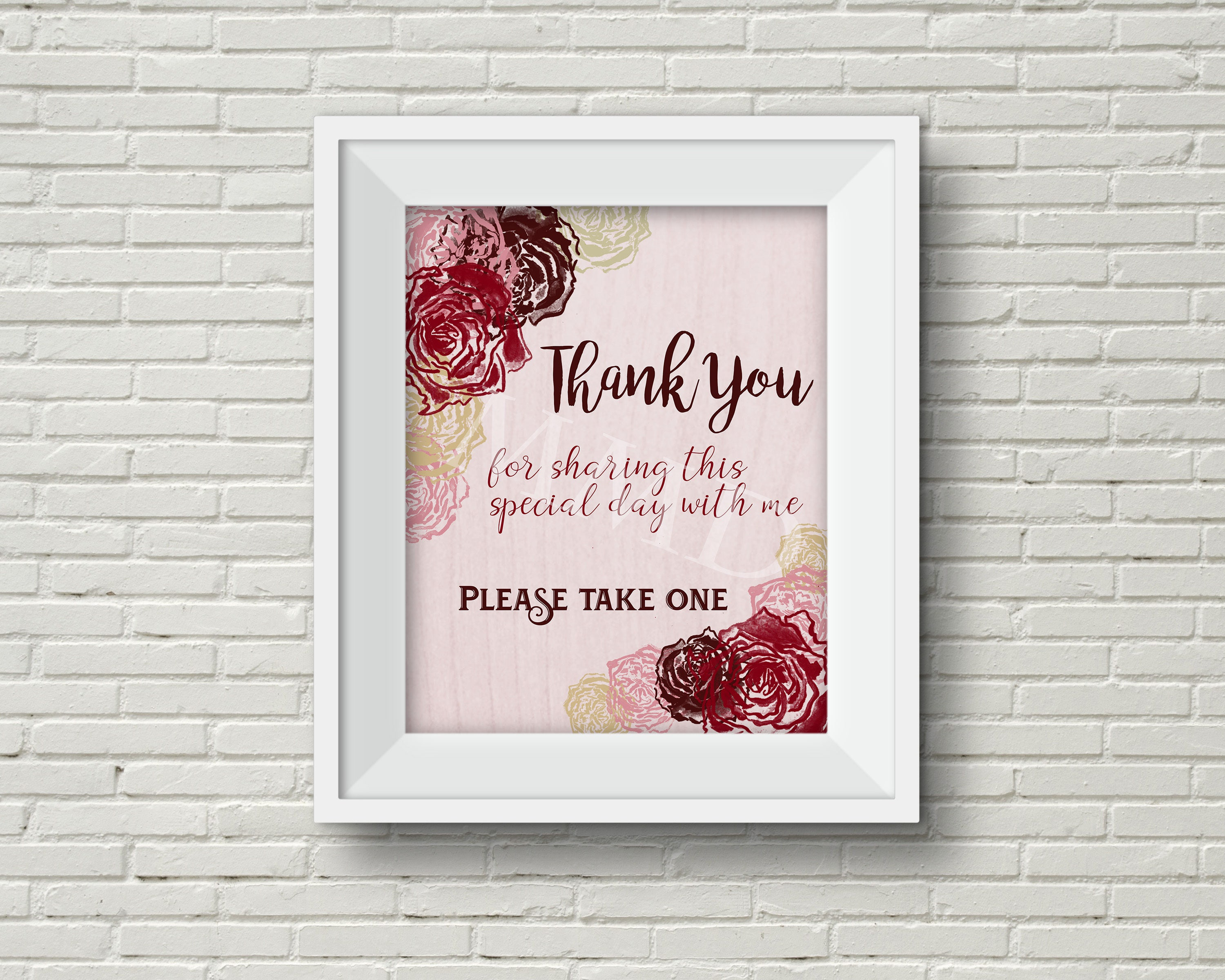 Party Favor and Thank You Sign for Bridal Shower, Wedding ...
