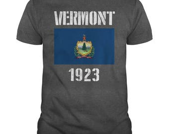 Vermont State Flag T-shirt,vermont flag,vermont state t-shirt,vermont gift t-shirt,vermont state flag tee,vermont state flag gift t-shirt