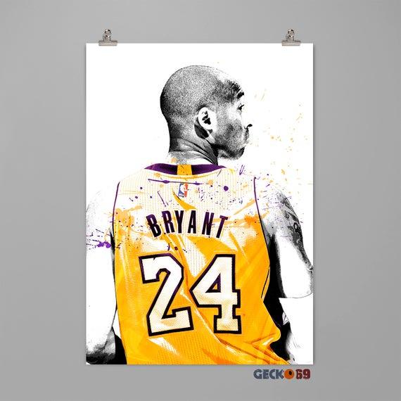 Kobe Bryant-Los Angeles Lakers Poster Basketball Wall Art