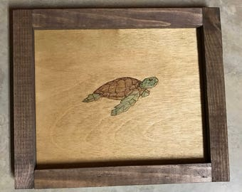 SALE!!!! 26% OFF!!!!   Wooden Rolling Tray - Turtle