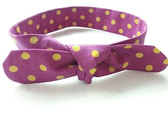 small tie baby headband