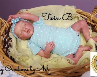 Reborn Baby, Twin B by Bonnie Brown, Custom Order