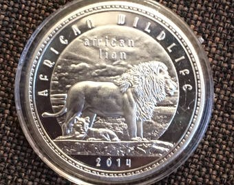 2014 African Lion Commemorative Coin