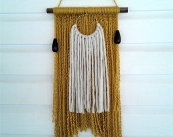 Double gold wall hanging