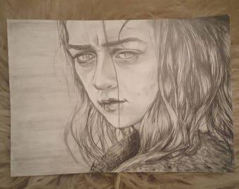 A sketch has no name... (Arya Stark A4) ORIGINAL