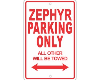 LINCOLN ZEPHYR Parking Only All Others Will Be Towed Aluminum Metal Sign