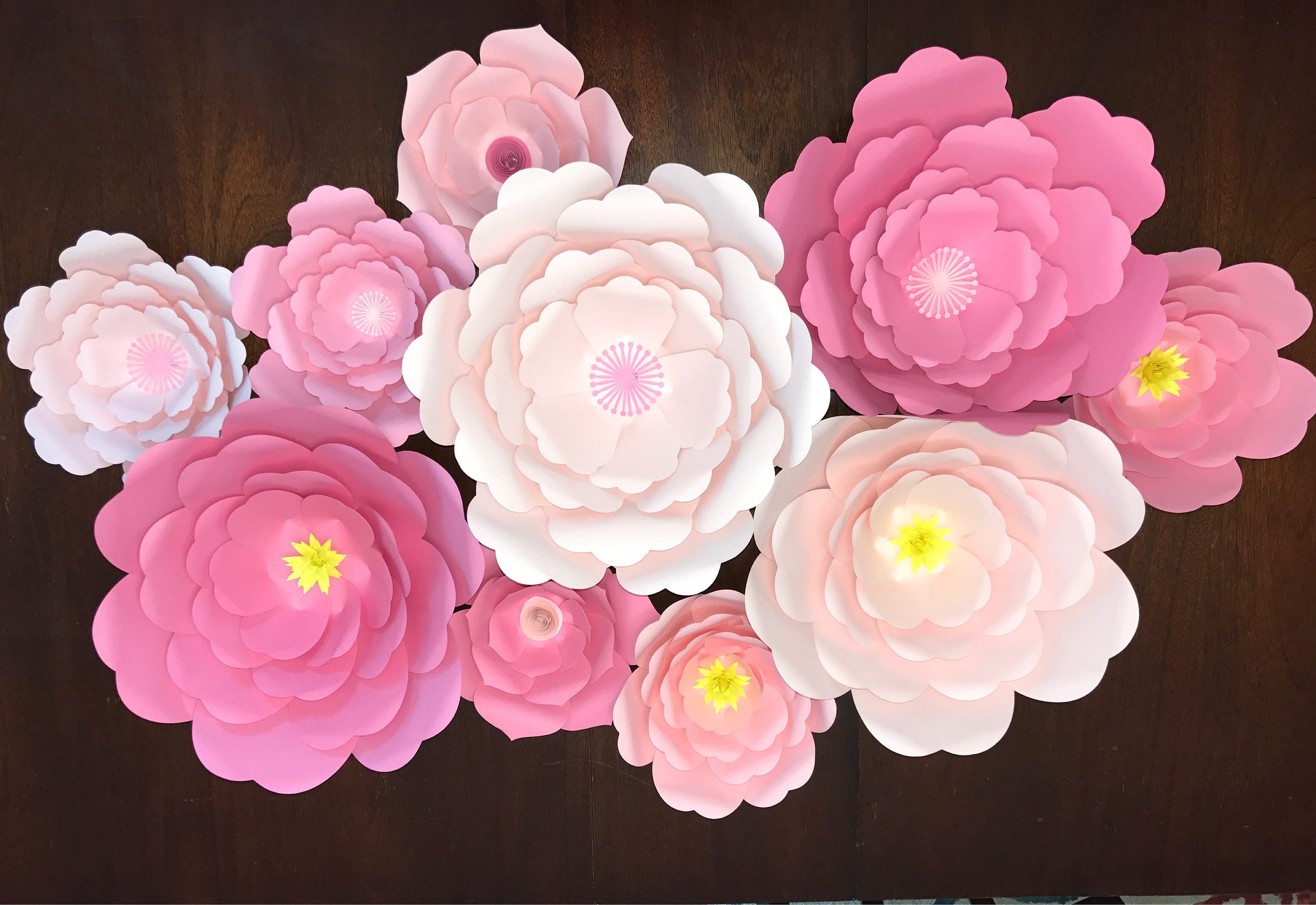 Giant Flowers Paper Flowers Flower Wall Art Paper Flower Backdrop