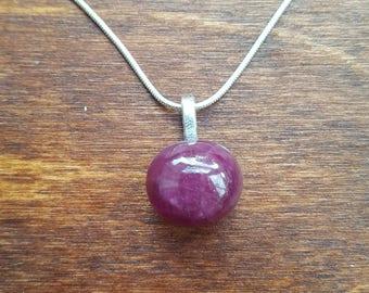 Star sapphire silver necklace - gemstone necklace - september birthstone necklace - gift necklace - birthday present - dainty - 71