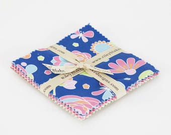 """Flutterberry by Melly & Me for Riley Blake - Stacker 18, 5""""x5"""" Squares - Precuts Fabrics - Cotton Precuts - Quilting Precuts Fabrics"""
